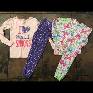 Other - 2 sets of pjs pajamas size 4T